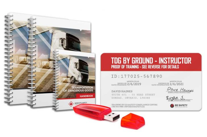 TDG Train the Trainer manuals, proof of training and flash drive