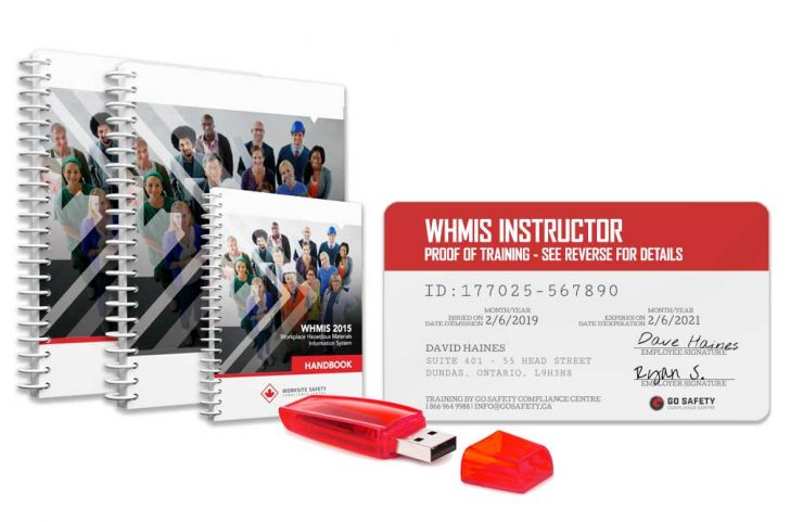 WHMIS Train the Trainer manuals, proof of training and flash drive